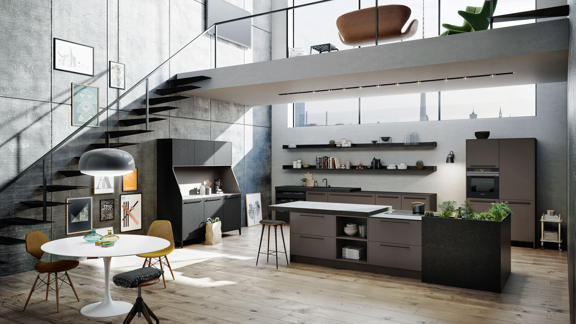 The Urban Collection | Open Plan Style Kitchens | A Bell
